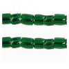 3 Cut Beads 10/0 Silver Lined Green